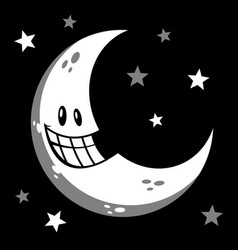 moon smiling cartoon vector image