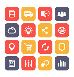 web icons set e-commerce business and analytics vector image vector image