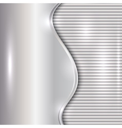 abstract silver background with curve and stripes vector image