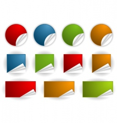 collect sticker vector image vector image