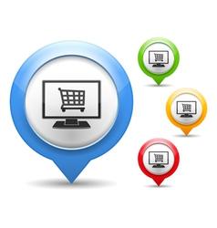 Internet Shop Icon vector image vector image