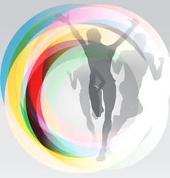 Sport festive concept background vector image