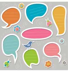 stickers for text vector image