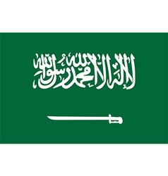 Flag of Saudi Arabia vector image vector image