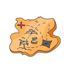 map of treasure island vector image