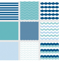nautical theme seamless pattern background vector image