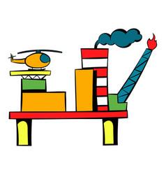 Oil refinery icon icon cartoon vector