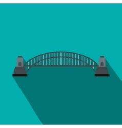 Sydney Harbour Bridge icon flat style vector image vector image