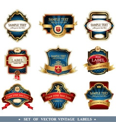 vector frames and labels set vector image vector image