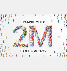 2m followers group business people vector