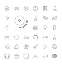 33 play icons vector