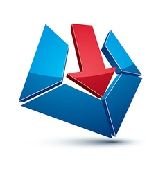 3d creative symbol with arrow aiming at target vector