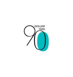90 years anniversary celebration elegant number vector