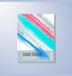 Abstract book design template vector