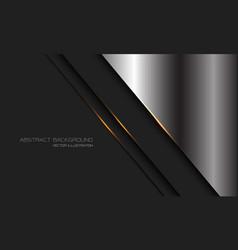 Abstract silver dark grey metallic gold light line vector