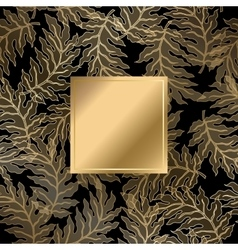 Abstract vintage damask pattern vector image