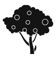 Apples on apple tree branches icon simple style vector