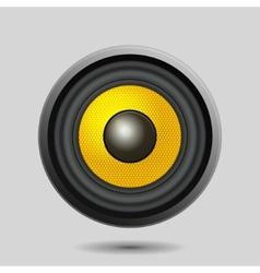Audio Speaker on Light Background vector