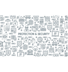 Banner on theme security2 vector