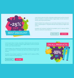 best discount 25 off all products final price vector image