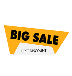big sale best discount yellow modern sale banner v vector image