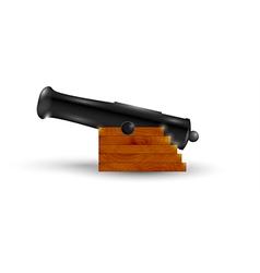 Black cannon vector