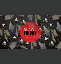 Black friday sale abstract dark background with vector