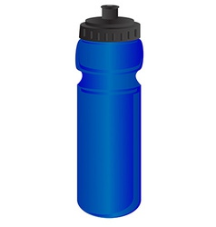 Blue sports water bottle vector