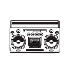 boombox cassette players design element for vector image