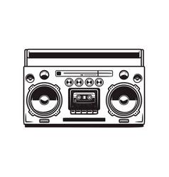 boombox cassette players design element vector image