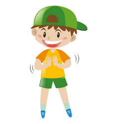 boy with big smile vector image