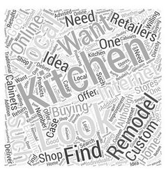 Buying What You Need to Remodel Your Kitchen Word vector image