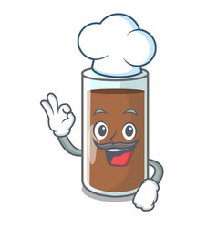 Chef chocolate milk the containing nutrition vector