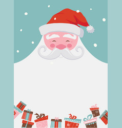christmas santa poster or a card with a place for vector image