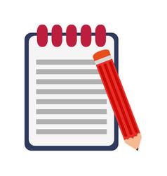 Clipboard and pencil symbol vector
