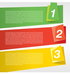 Colorful origami banner template EPS10 vector image