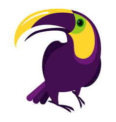 colorful toucan icon cartoon style vector image