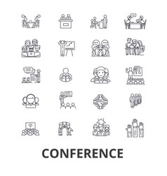 conference presentation meeting business vector image