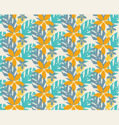 contemporary floral seamless pattern vector image