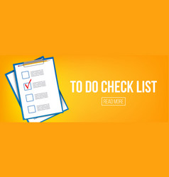 creative of to do check list vector image
