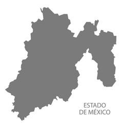 Estado de mexico mexico map grey vector