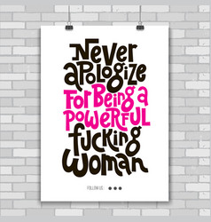 Girl power quotes vector