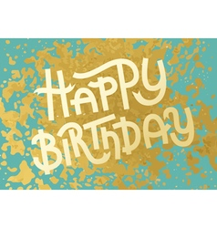 Gold leaf boho chic style birthday greeting card vector
