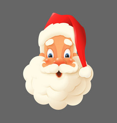 happy santa claus isolated - expression face vector image