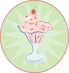 Ice Cream Sundae vector image