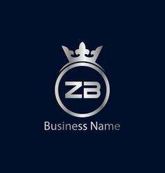 Initial letter zb logo template design vector