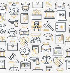 Law and justice seamless pattern vector