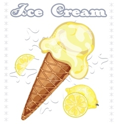 Lemon ice cream vector image