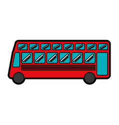 london bus transport vehicle icon vector image