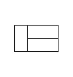 madagascar flag icon in black outline flat design vector image